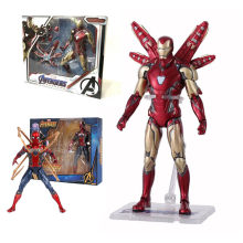 17cm Marvel MK 85 Iron Man the Avengers 3 Iron Spider Man Amazing Spiderman Beweegbare Action Figure model speelgoed voor Kinderen Geschenken(China)