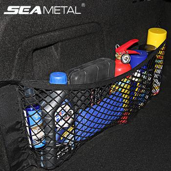 Akcesoria samochodowe Organizer siatka do bagażnika samochodowego Nylon SUV Auto przechowalnia ładunków siatka uchwyt uniwersalny do samochodów siatki bagażowe kieszonka podróżna tanie i dobre opinie SEAMETAL Bagażnik Box Torba Car trunk mesh net Black 40 x 25cm 50 x 25cm 60 x 25cm 80 x 25cm Universal for all the cars
