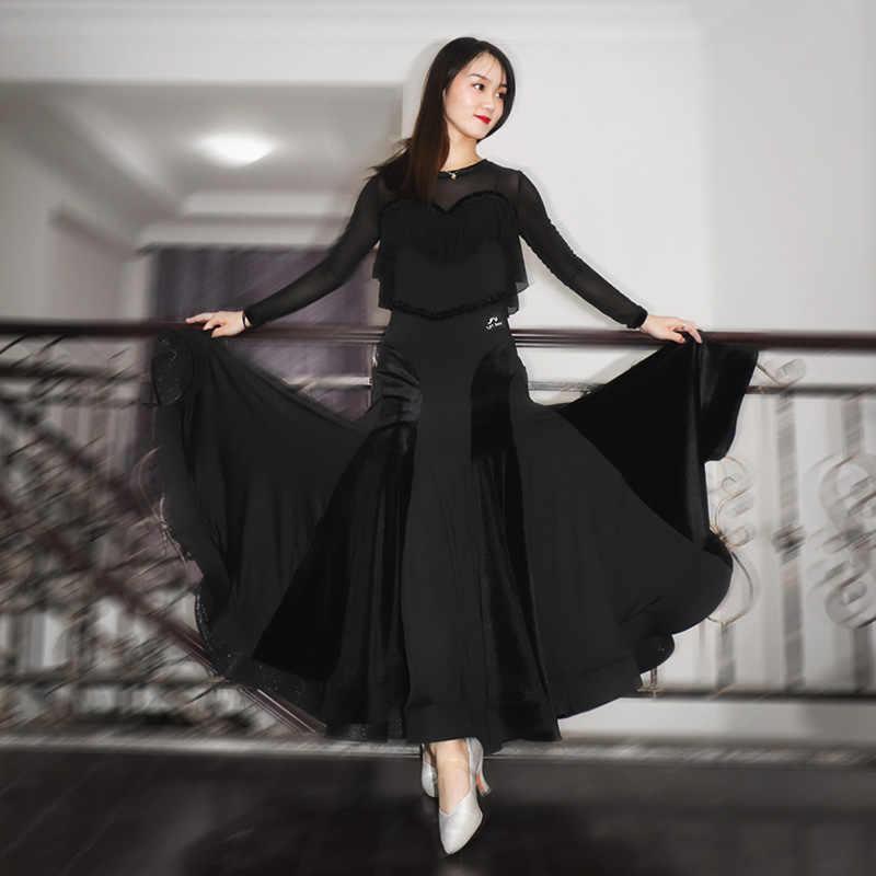 Vestido de Salón Estándar para mujer, vestido de vals con flecos, vestido de baile de salón, trajes de baile modernos, vestido de flamenco rumba