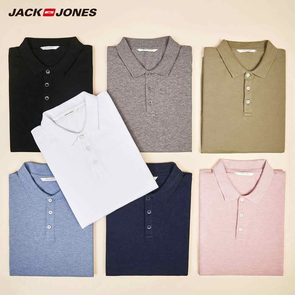 Jack Jones Mannen Basic Effen Kleur Katoen Turn-Down Kraag Polo Shirt Jackjones Menswear 220206532