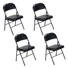 4 шт (40x45x78) см элегантные складные железные и пвх стулья