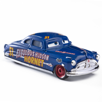 Disney Pixar Cars 3 2 Fabulous Hudson Hornet Sally Mater Lightning McQueen 1:55 Diecast Metal Alloy Model Cars Kid Gift Boy Toy image