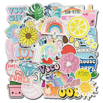 50Pcs/Lot Colorful Vsco Stickers Hydro Flask Water Bottle Vinyl Decals for Laptop Phone Cute Trendy Aesthetic Teen Girls Sticker - discount item  34% OFF Classic Toys