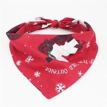 Рождественская бандана для собак, двусторонний шарф для собак, аксессуары для собак, рождественские подарки