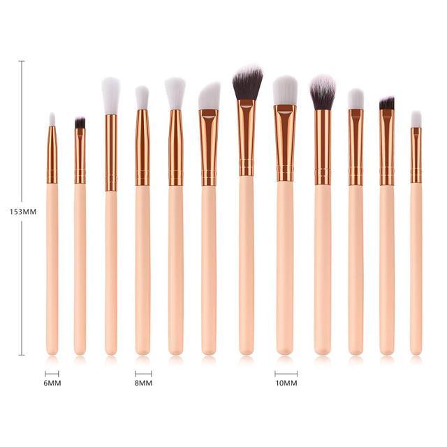SAIANTTH 12pcs eyes  makeup brushes set tool Make up Toiletry Kit Wool Brand pincel maleta de maquiagem Nose Shadow Eyeliner lip 1