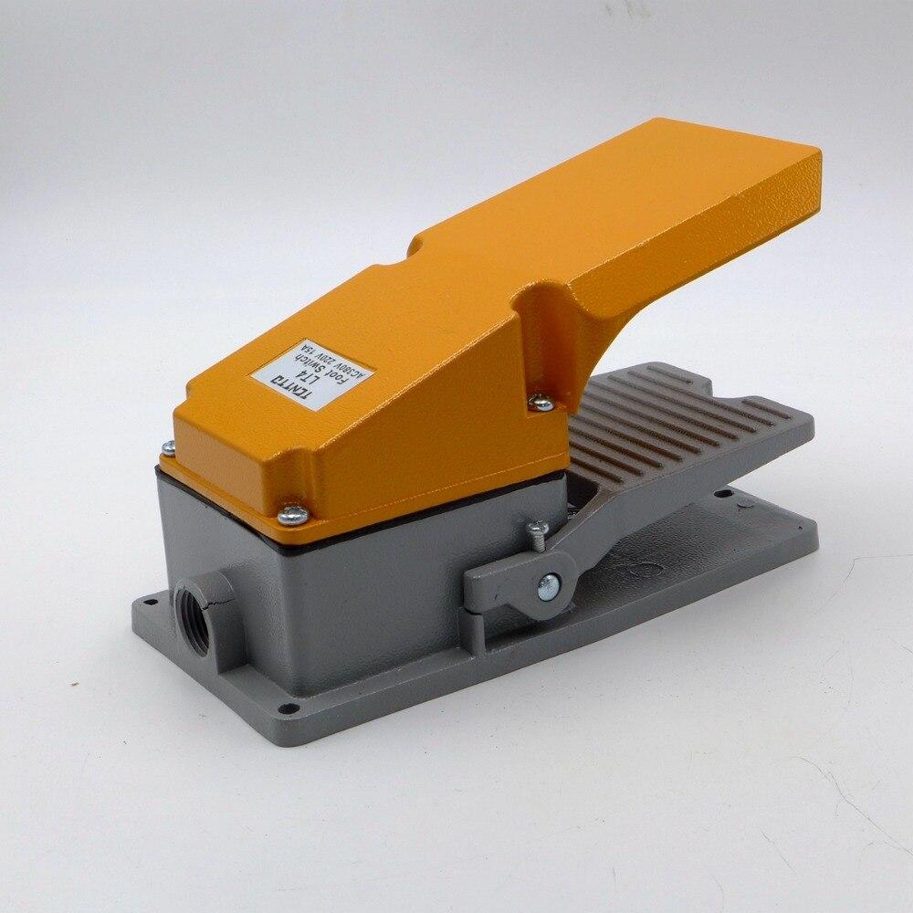 Pedal de pie de aluminio conmutador de soldadura soplete Tig