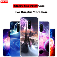 for Oneplus 7 Pro Case Silicone Cover Slim Starry Sky Stars Planet Print Coque One plus7 1+7 1+ Capa