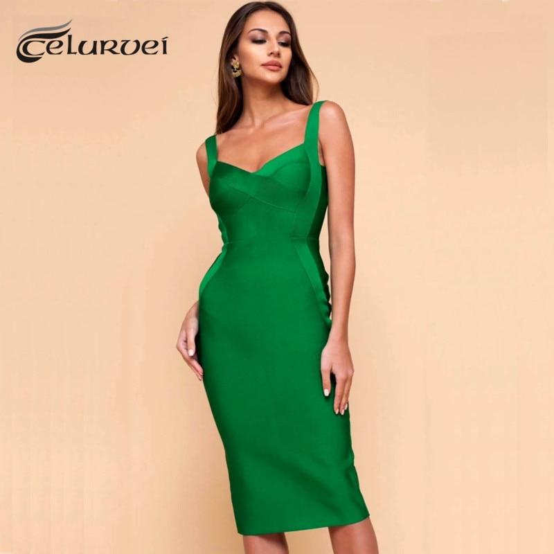 Высококачественное розовое, зеленое, Красное Облегающее Платье длиной до колена из вискозы, Бандажное платье, вечернее платье, Vestidos