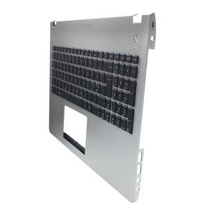 Image 3 - New new laptop keyboard bezel for ASUS X501U N56 N56V N56VM N56VZ N56SL Silver Topcase Palmrest upper case C shell backlight