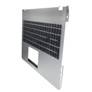 Image 3 - Nouveau nouveau clavier dordinateur portable lunette pour ASUS N56 N56V N56VM N56VZ N56SL argent Topcase Palmrest boîtier supérieur C coque rétro éclairage