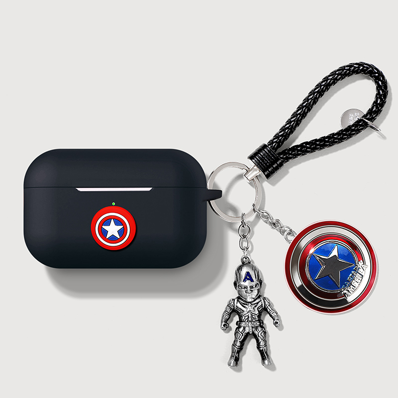 Cartoon Marvel Silicone Bluetooth Earphone Case For Apple AirPods Pro 3 Ultra-thin Cute Charger Box Protection Cover Funda Coque