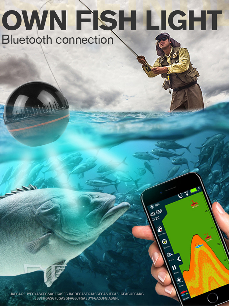 Erchang Echo Sounder Sonar Russia-Warehouse 48m/160ft-Detector Android Portable Wireless