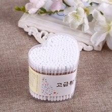5 юаней магазин креативный Lijie сеть 200 отсчетов сердце хлопок тампон высокотемпературная дезинфекция двойная круглая голова деревянная клюшка хлопок Sw