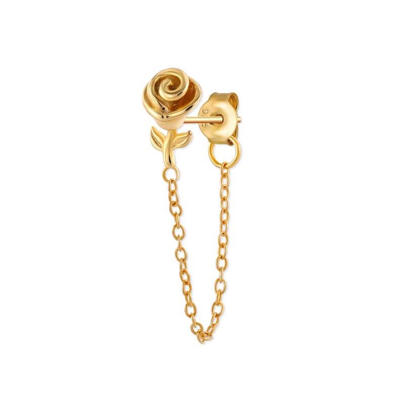 1Pcs Moon Star Earrings Cubic Zircon Crystal Drop Earrings For Women 925 Sterling Silver Earrings Ear Line Earings Jewelry Gift