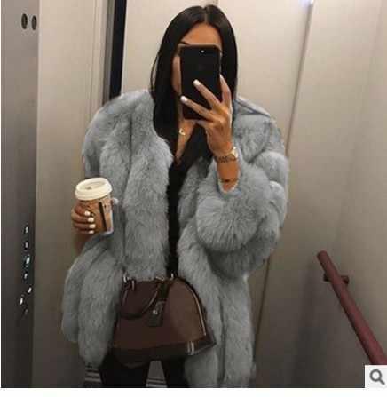 Elegante flauschigen faux pelzmantel frauen Kurze pelzigen gefälschte pelz winter oberbekleidung rosa grau mantel herbst casual partei mantel
