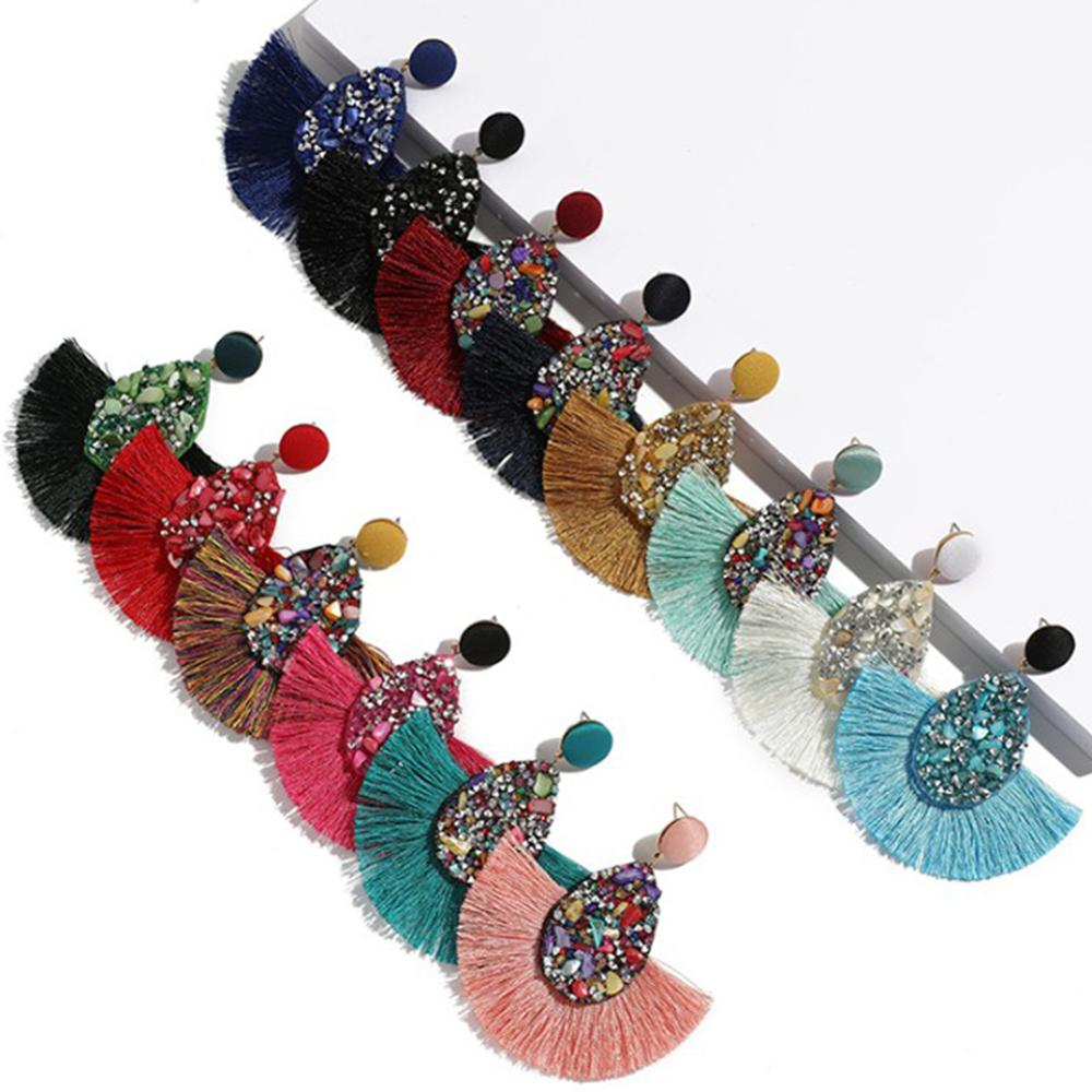 Fashion Bohemian Big Tassel Dangle Drop Earrings for Women Statement Wedding Red Fringe Female Earrings Za 2020 Jewelry
