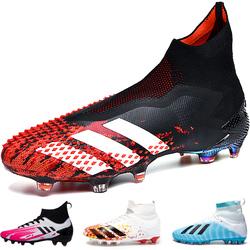 2020 Unisex New Arrive Top Quality Fg Soccer Shoes Comfortable Football Boots High Ankle Outdoor Sport Training Cleats Size 45