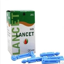 100pcs/lot CE approved disposable lancets 28G blood glucose lancets free shipping
