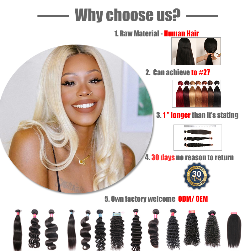 pacotes de cabelo 12-28 polegadas cor natural