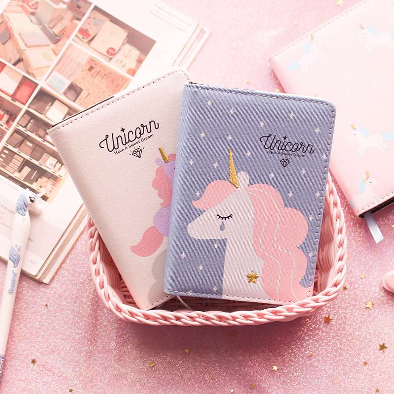 A6 Kawaii Unicorn Notebook Cartoon Hand-book Daily Weekly Schedule Agenda Planner Organizer Journal Dairy Notepad Kids Gift