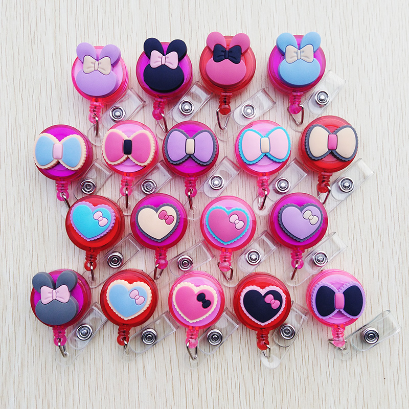 1 Pcs/lot Cute Cartoon Retractable Pull Badge Reel ID Name Tag Card Student Nurse Badge Holder 2020 Lovely Kids Reels