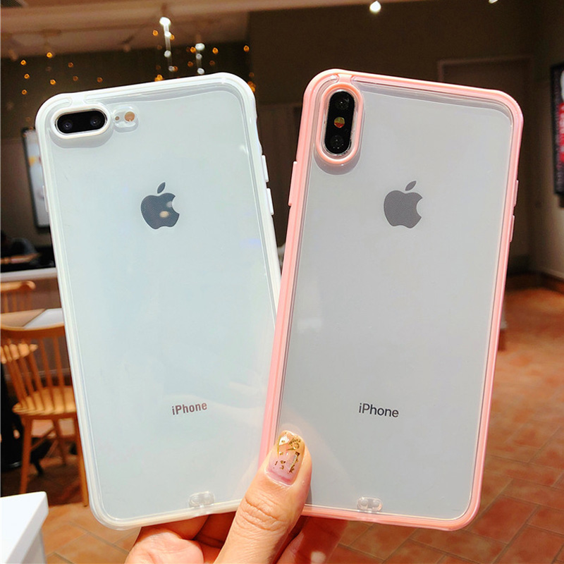 Lovebay Shockproof Bumper Transparent Silicone Phone Case For iPhone 11 Pro X XR XS Max 8
