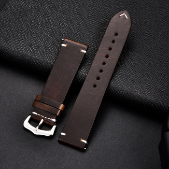 Retro Cowhide Leather Watchband (Multiple Colours) 1