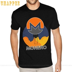 Sport Rocket To The Moon Monero Coin Tees Shirt Men's Custom Made Short Sleeved Red Round Neck T-Shirts