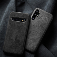 Leather Case Voor Samsung Note 10 Plus 10 + A50 A70 A40 A60 A20 A30 Cover Shockproof Suède Stof Capa voor Samsung Galaxy S10 Plus