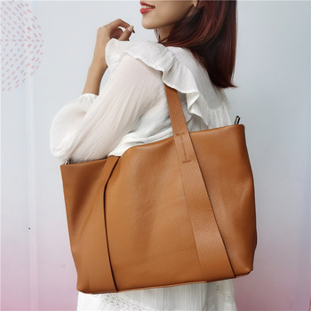 Casual Shoulder Big Tote For Women 2020 New Large Capacity Real Leather Crossbody Handbags Designer Purses High Quaity Hand Bag image