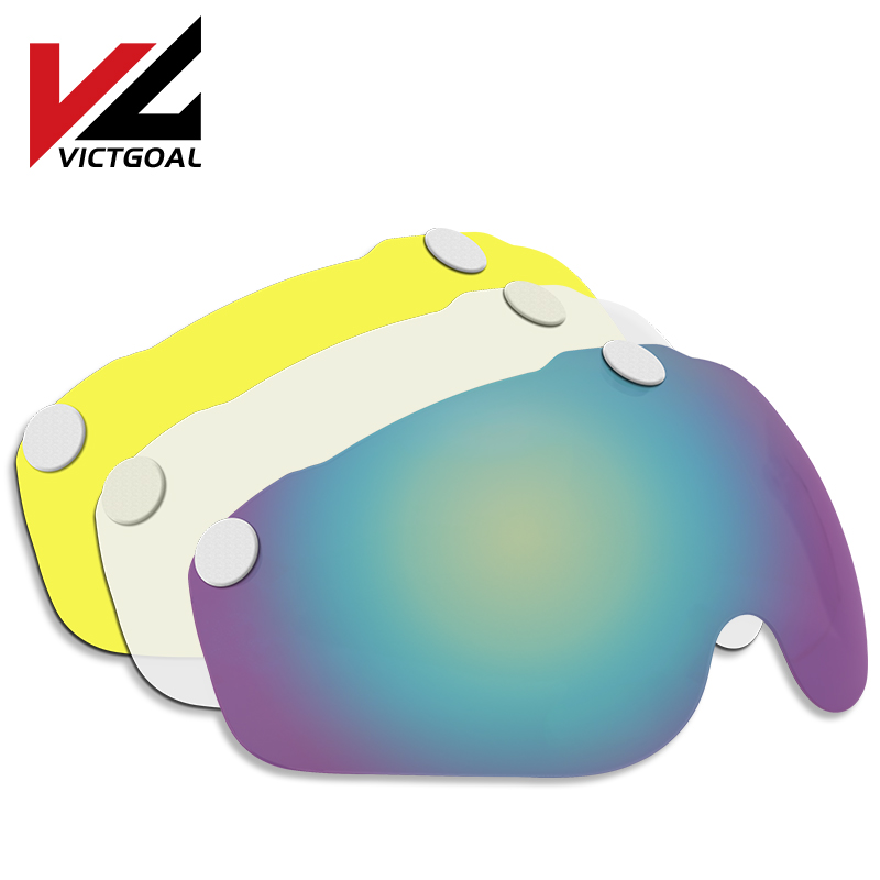 VICTGOAL Bicycle Helmet Lens Magnetic Helmet Goggles Cycling Helmets Shield MTB Road Bike Helmets Accessories For Night Cycling