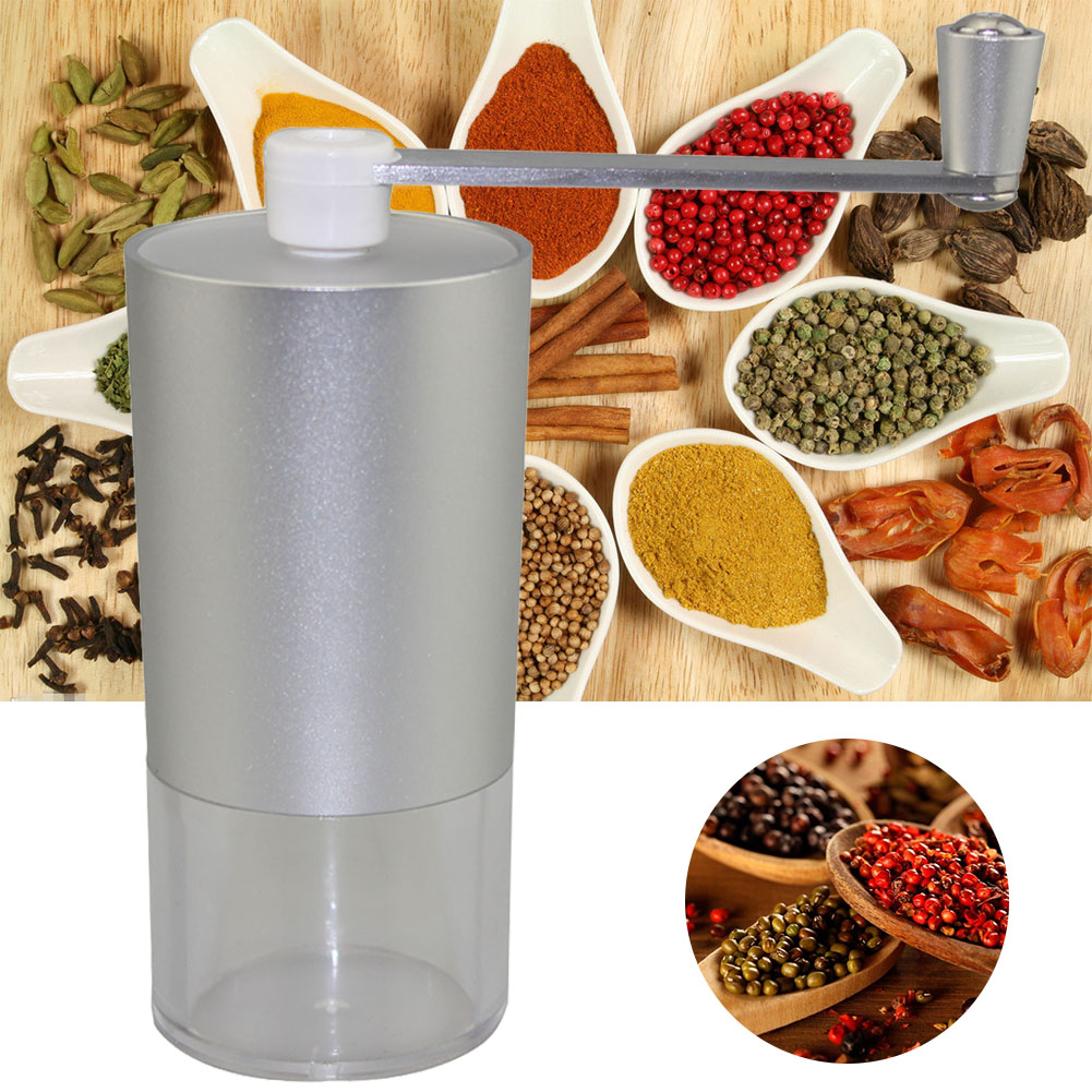 Bean Burr Rotary Tool Mill Coffee Grinder Home Travel Adjustable Ceramic Stone Mini Manual Stainless Steel Kitchen Portable| |   - AliExpress