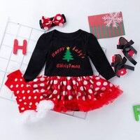 New pattern Christmas tree Festival Skirt Newborn Baby Girl Clothes Infant Skirts Set Baby Christmas Girls Set Polka Dots clothe