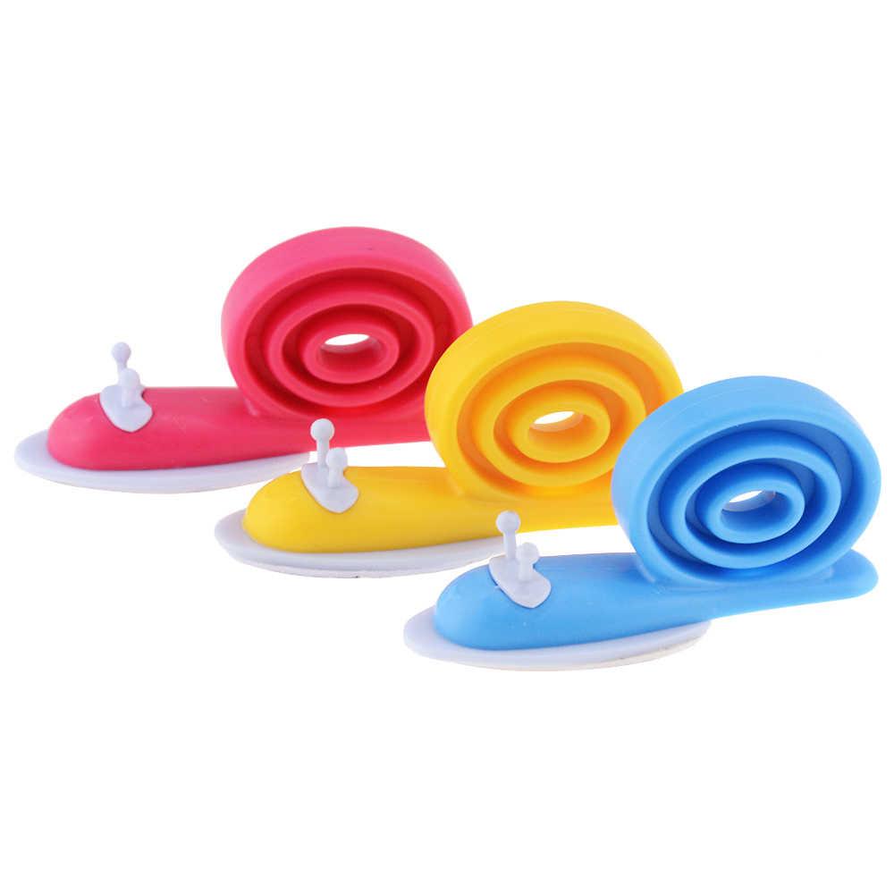 3 sztuk Hot sprzedam dziecko plastikowe zabezpieczenie do drzwi karty wiatroszczelna zacisk do drzwi kolor dzieci ślimak zabezpieczenie do drzwi odbojnik
