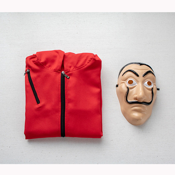 Halloween Party Salvador Dali Cosplay Movie Mask Money Heist The House of Paper La Casa De Papel Cosplay Costume Face Mask