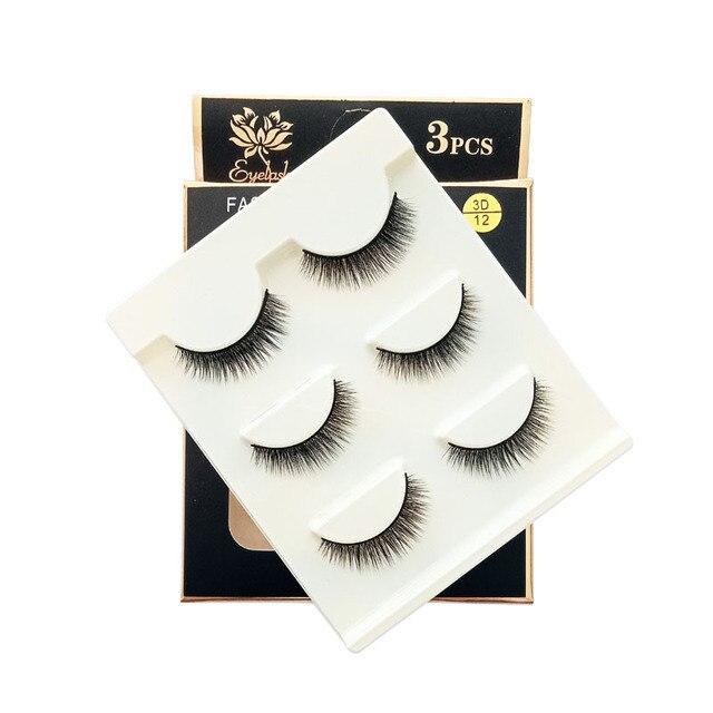 Big Eye Makeup Cross Volumn False Eyelashes Soft Natural False Eyelashes 3D Mink Thick Lashes Handmade Eyemakeup Extension Tools 5