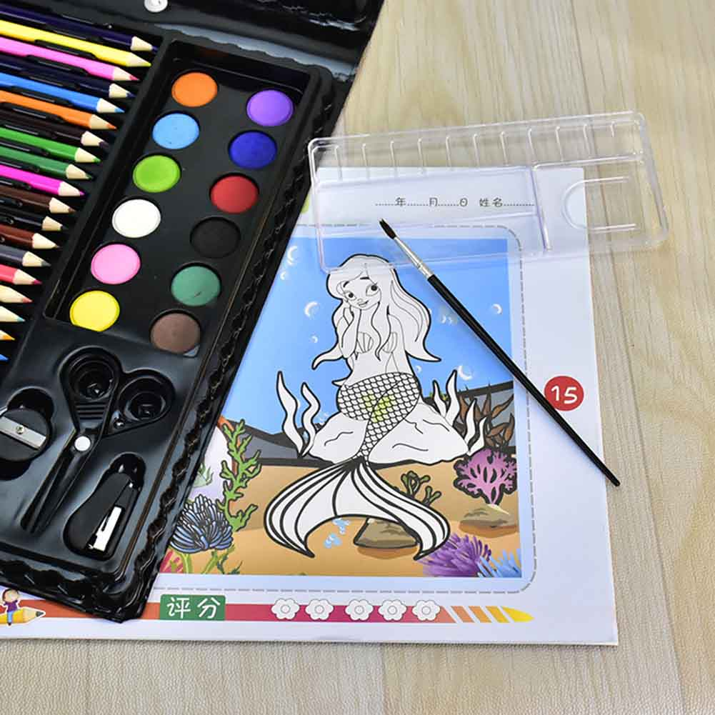150pcs//set Water Color Marker Pen Painting Supplies Gift Children Art With Box