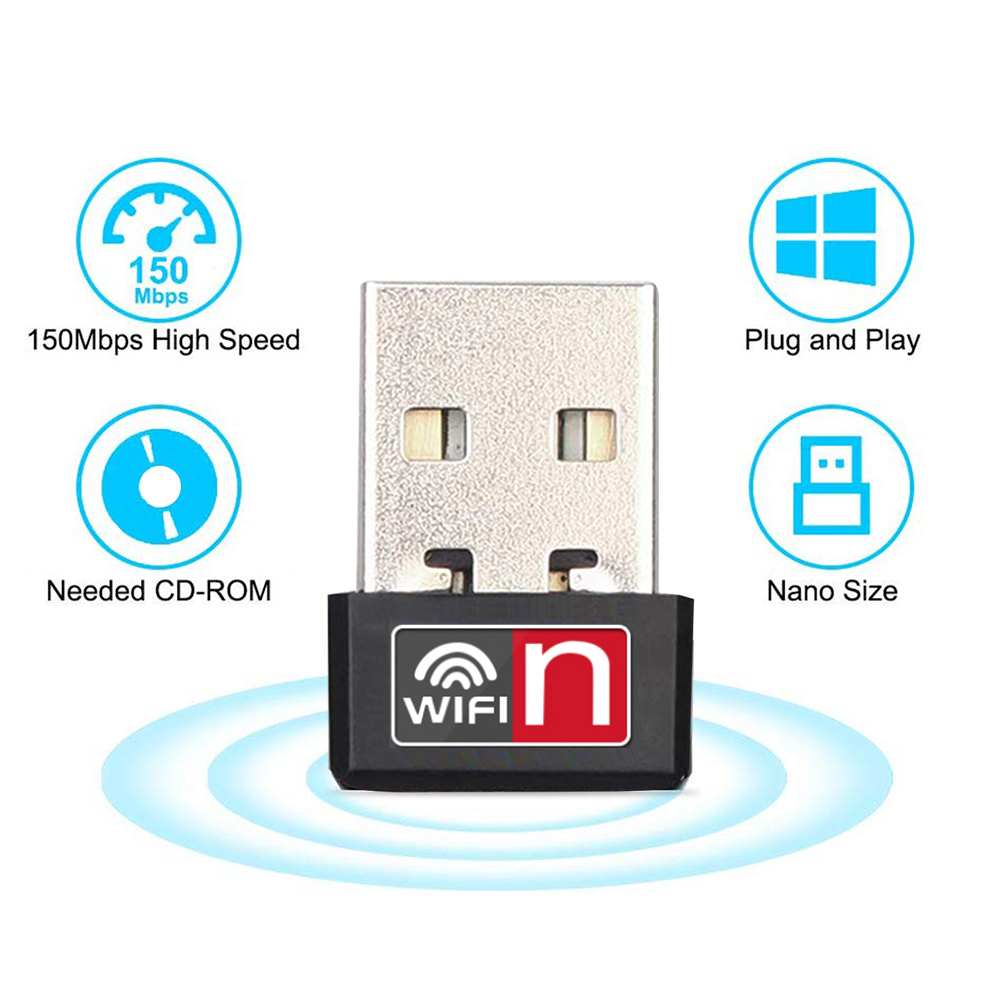 Mini USB WiFi Adapter 150Mbps USB2.0 Wireless Network Adapters Wi-Fi Dongle For Win/Vista/Linux Desktop/Laptop