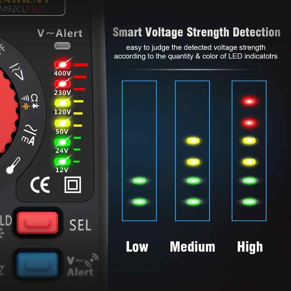 MAXRIENY 92CL-Pro Digital Multimeter Dual Mode Warna Tampilan Voltmeter Kapasitor Tegangan Hz Perlawanan Dioda NVC Tester Meter