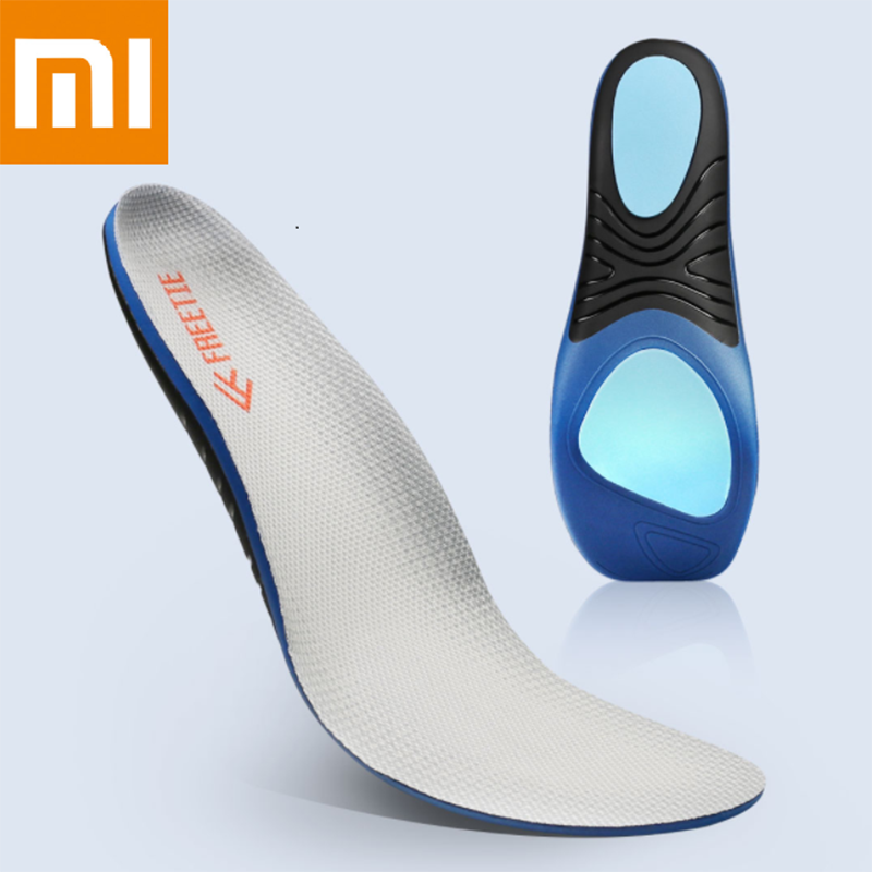 Xiaomi Mijia FREETIE Shock Absorber Sports Insole Grey Shock Absorber Springback Torsional Support Polyester Fiber Insole