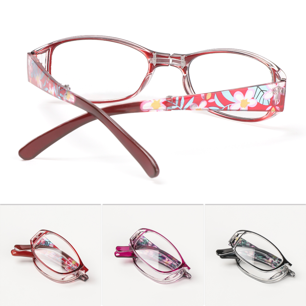 New Women Flower Print Resin Reading Glasses Ultra Light Resin Magnifying Eyewear Protector Glasses Presbyopic Diopter +1.0~+4.0