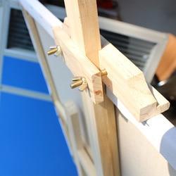 Studio Sketch European Style Pine Wood Easel 1.5m Wooden Solid Wood of Sketch Fine Art Canvas Frame Adjustable Display Rack