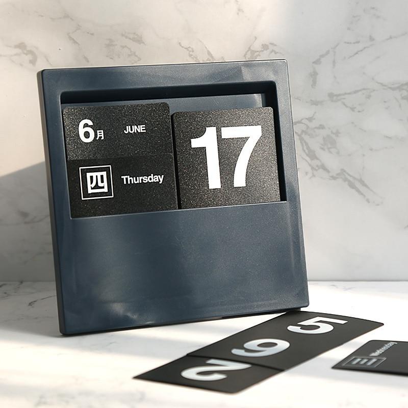 Desktop Plug-In Calendar Reusable Creative DIY Gift Calendar Cafe Home Decoration