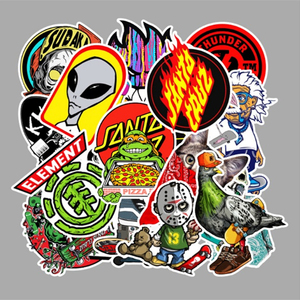 10/30/50/100pcs Cartoon skateboard Stickers Guitar Suitcase kids Children Graffiti Sticker Kid Classic Toy