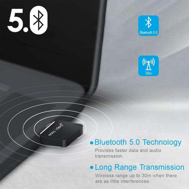 USB Bluetooth 5.0 Adapter Bluetooth Dongle 5.0 Transmitter Bluetooth Receiver Mini Audio Adapter For Computer PC Laptop Music 3