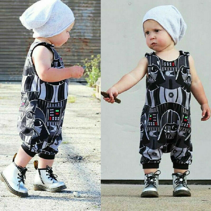 Newborn Infant Kid Baby Boy Star Wars Romper Bodysuit Playsuit Clothes Outfit