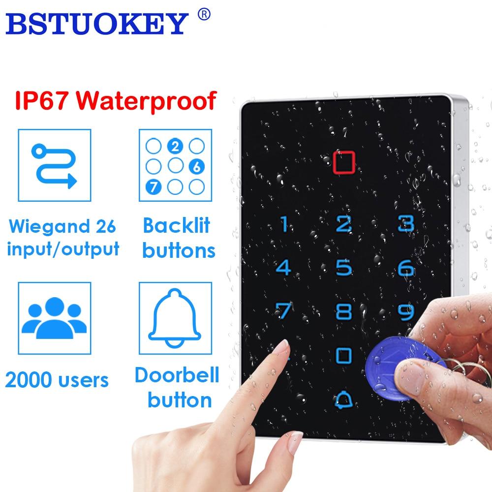 2000 User IP67 Waterproof Access Control Keypad Outdoor RFID Access Controller Door Opener System 125KHz wiegand 26 input output