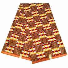 100% полиэстер ткань с африканскими восковыми принтами kente