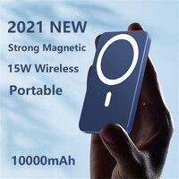 Batería auxiliar externa de 10000mAh, Mini banco de energía portátil para iPhone 12 13 Pro Max, cargador magnético inalámbrico de teléfono móvil