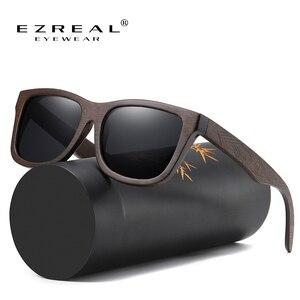 Image 1 - EZREAL Hamdmade Natürliche Hölzerne Sonnenbrille Polarisierte Männer Bambus sonnenbrille Frauen Marke Designer Original Holz Gläser S3833